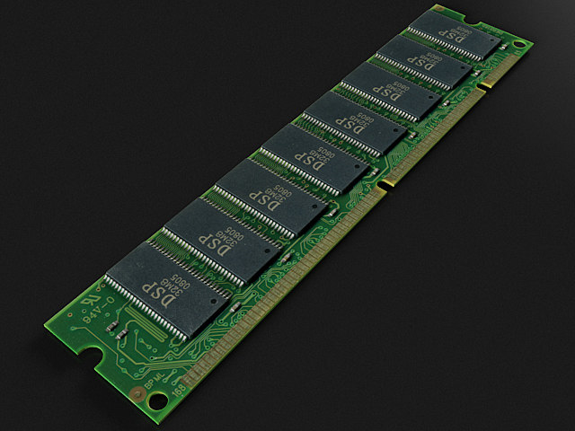 sdram module memory 3D model
