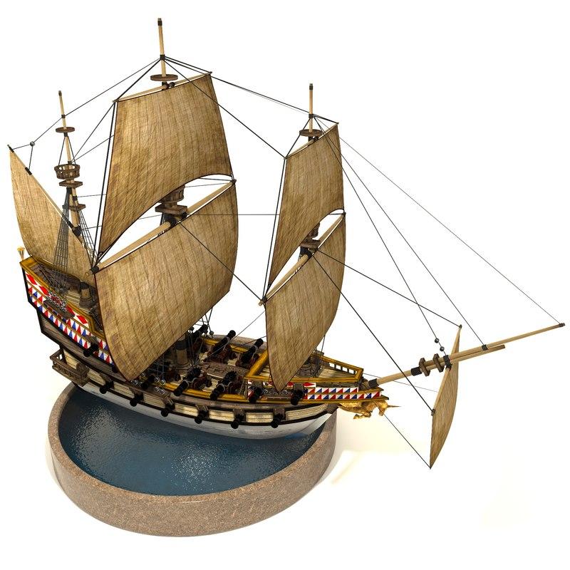 pirate galleon 3D model