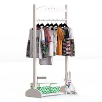 floor hanger childrens clothing 3D
