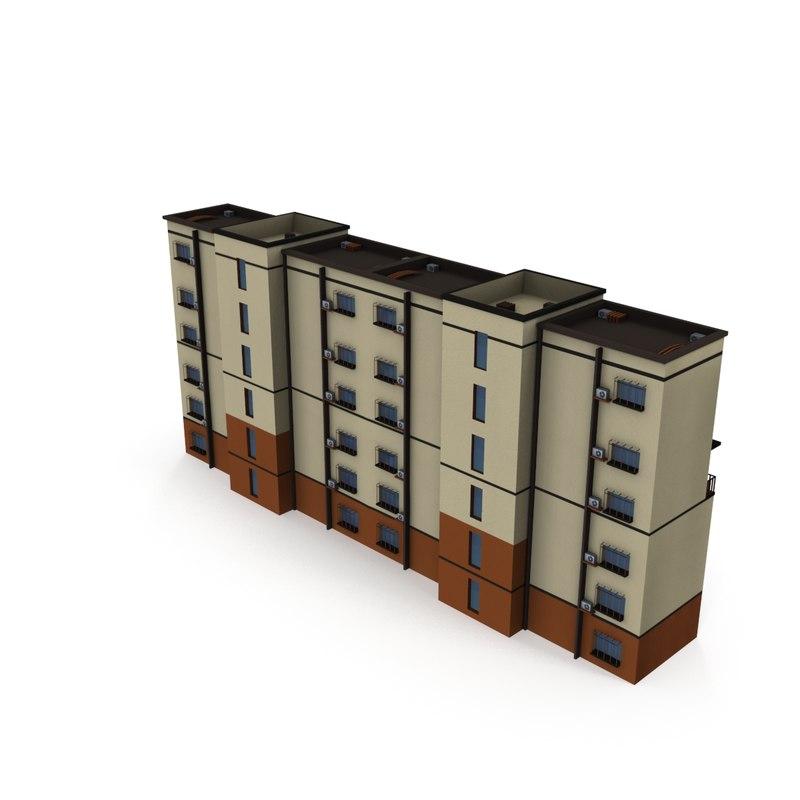 residential building 02 asian 3D model