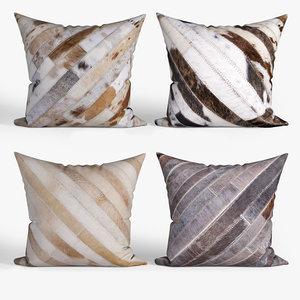 3D decorative pillows houzz torino model