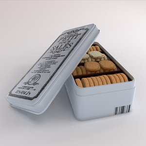 spicy cookies box 3D model