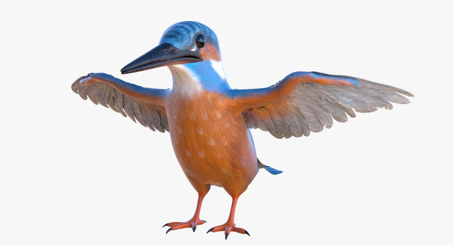 common kingfisher 3D model