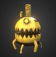 crave-o-matic crusher robot 3D model