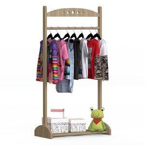 3D floor hanger childrens clothing model