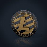 3D litecoin coin