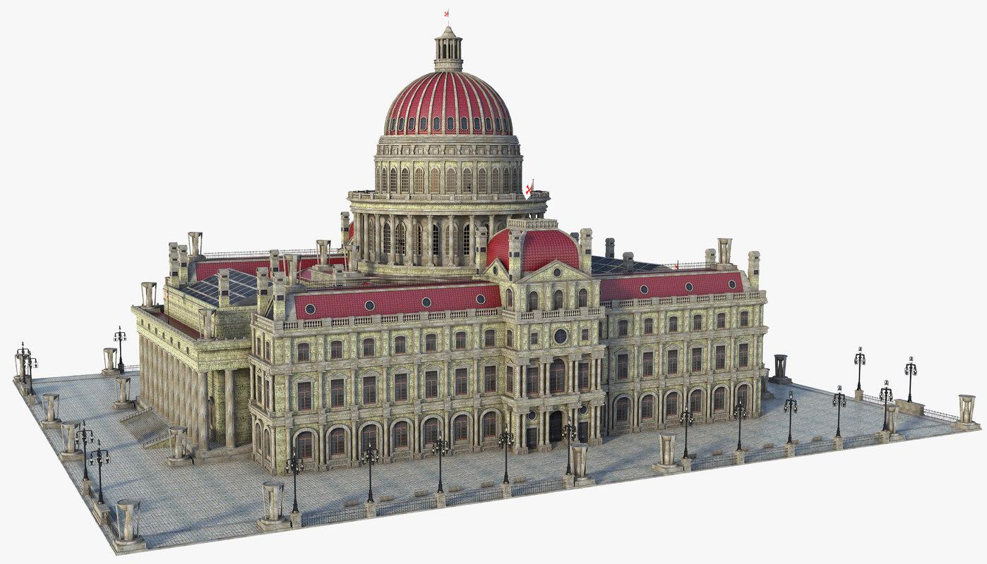 building dome classic 3D model