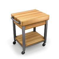 3D kitchen cutting block cart