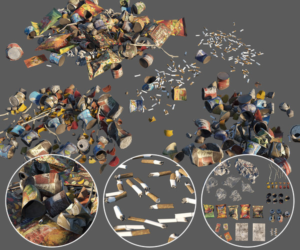 street trash 3D model