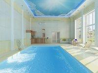 3D interior room pool model