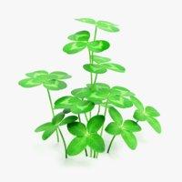 3D clover plant 4