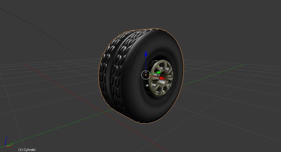 3D model wheel rim