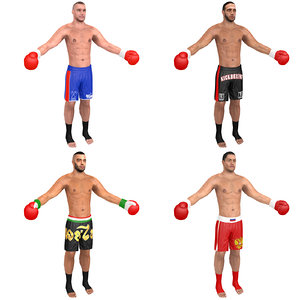 pack kickboxer 3D model