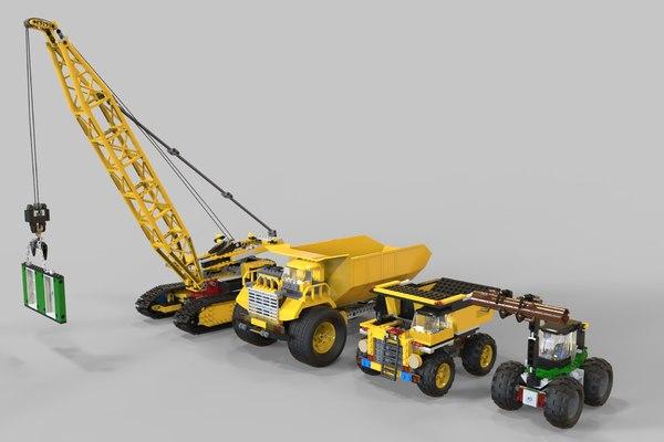 pack truck lego 3D