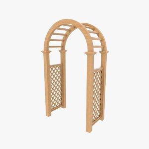 3D garden arch