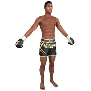 muay thai fighter 3D model