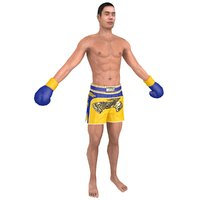 muay thai fighter model
