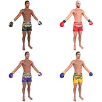 pack muay thai fighter 3D