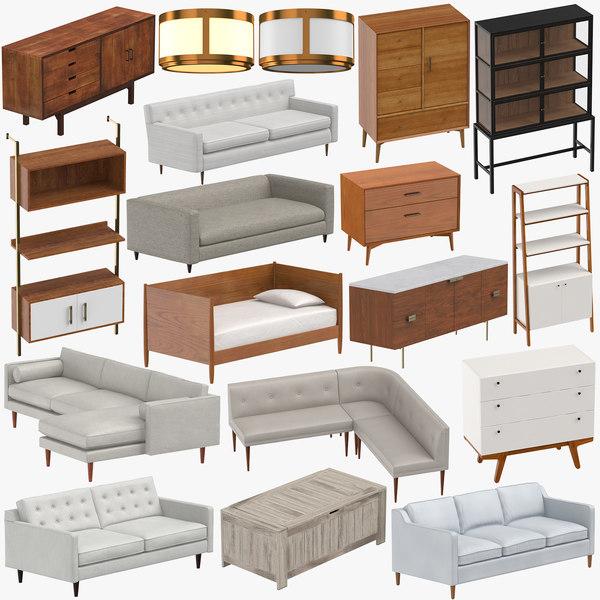 Mid Century Modern Furniture Model, Mid Century Modern Furniture