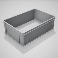 Plastic Stacking Box Set PBR Game Ready