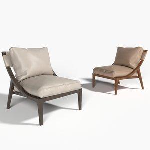 3D racerback lounge chair