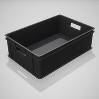 plastic stacking box black model