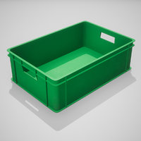 3D plastic stacking box green