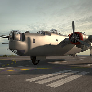 consolidated liberator b 3D model