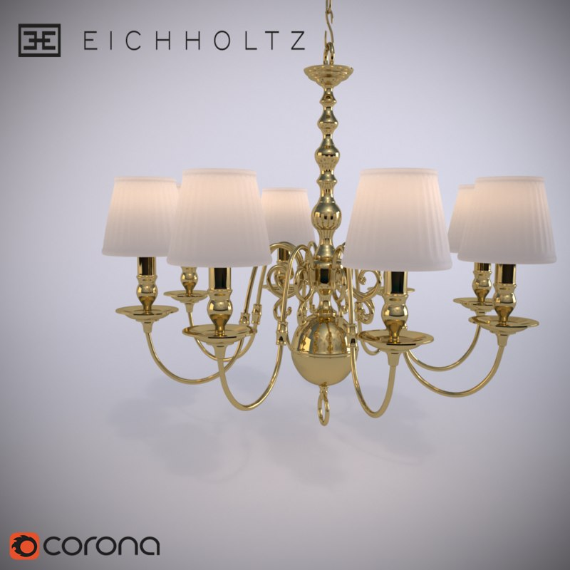 3D chandelier bourbon