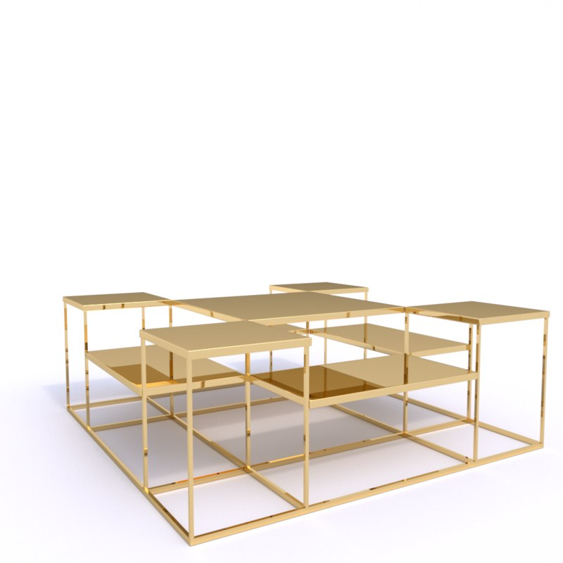 coffee table avian 3D model