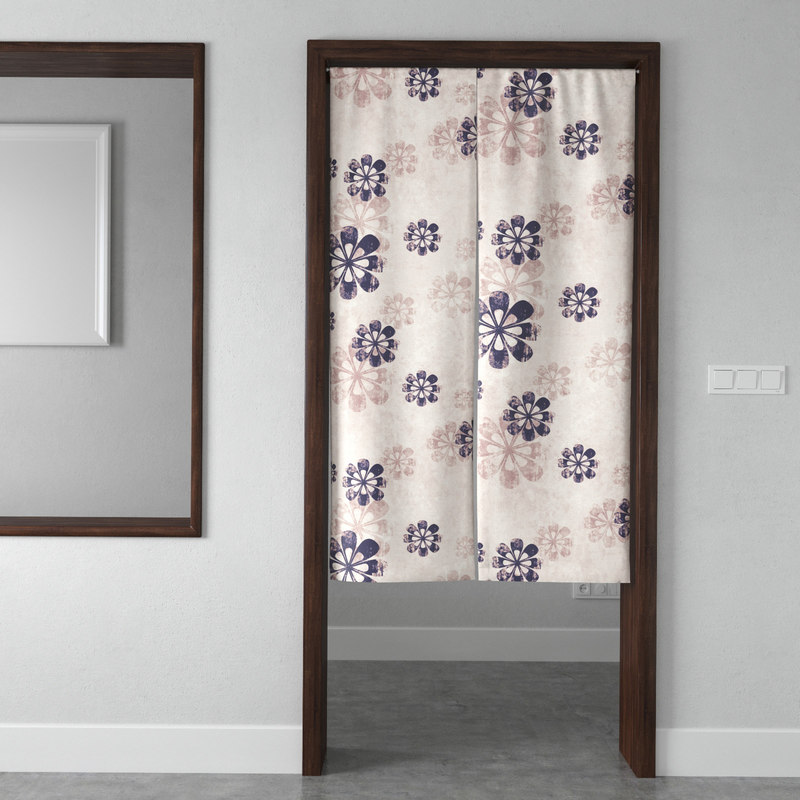 3D model japanese style door curtain