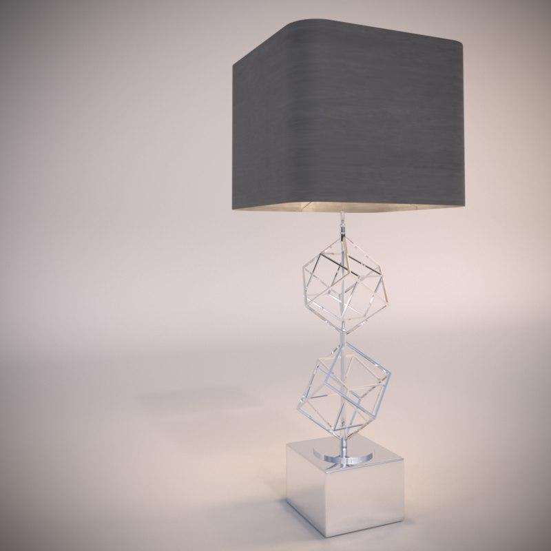 3D table lamp matrix model