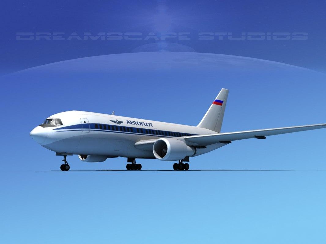 airline boeing 767-200er 3D model