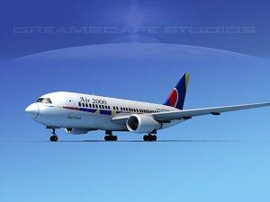 airline boeing 767-200er model