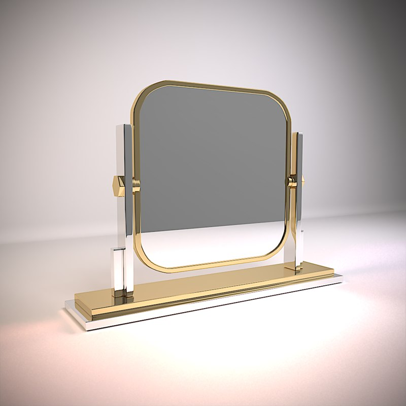 3D table mirror carmen model