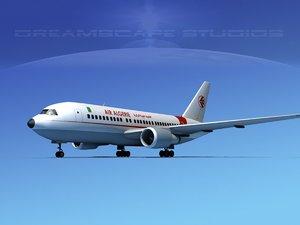 3D airline boeing 767-200er