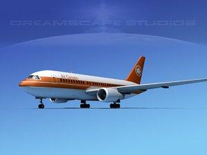 airline boeing jet 767-200er 3D model