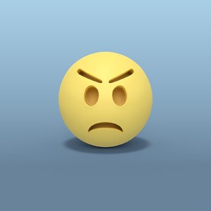 angry smiley model