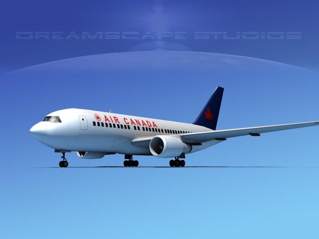 airline boeing 767-200er 3D