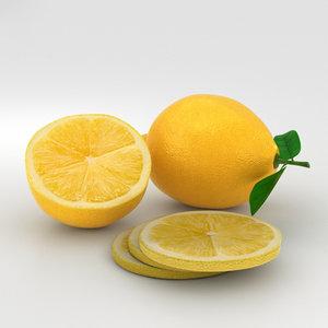 3D lemon model