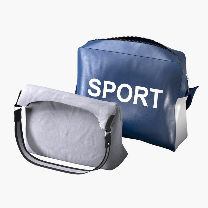 realistic handbags set 3D