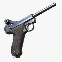 Luger P08 AAA Game Weapon
