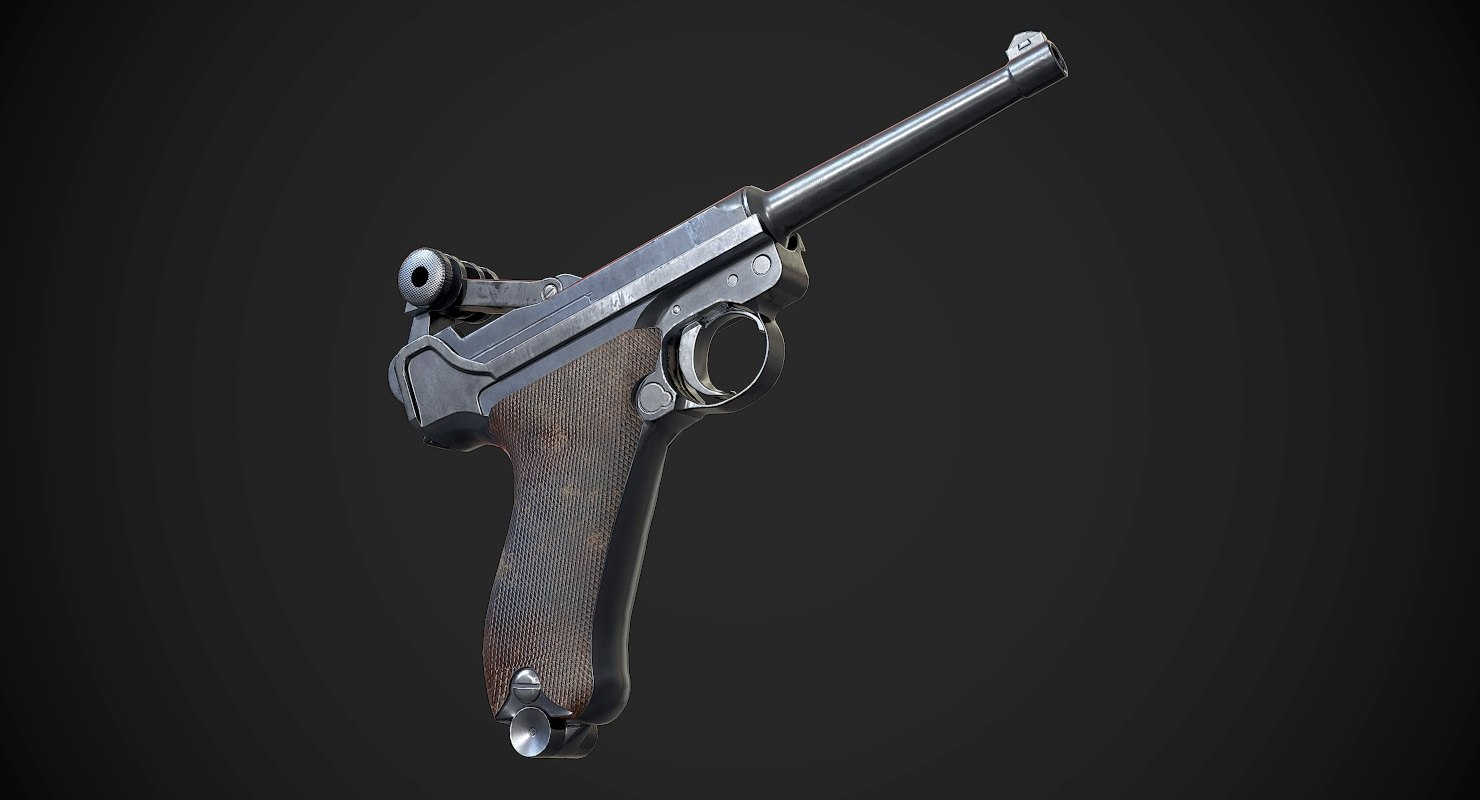 luger p08 aaa games model