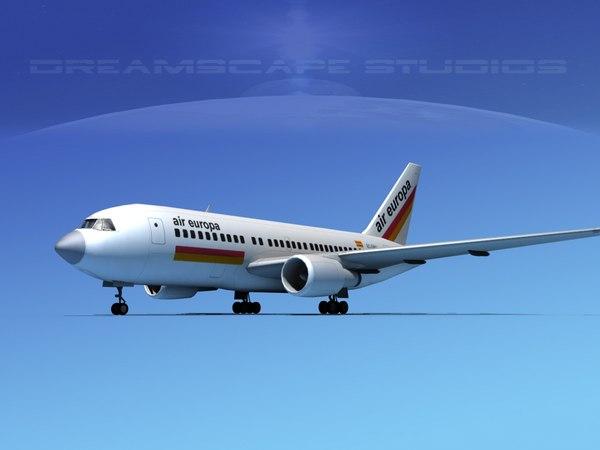 3D airline boeing 767 767-200er model