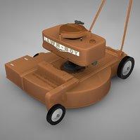 lawn mower l022 3D