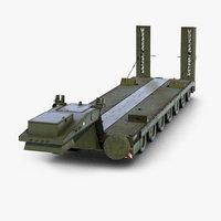3D daf tropco transporter trailer