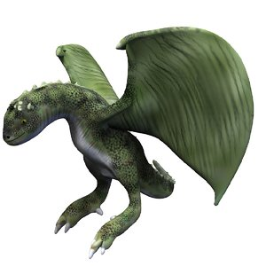 thrones dragon 3D