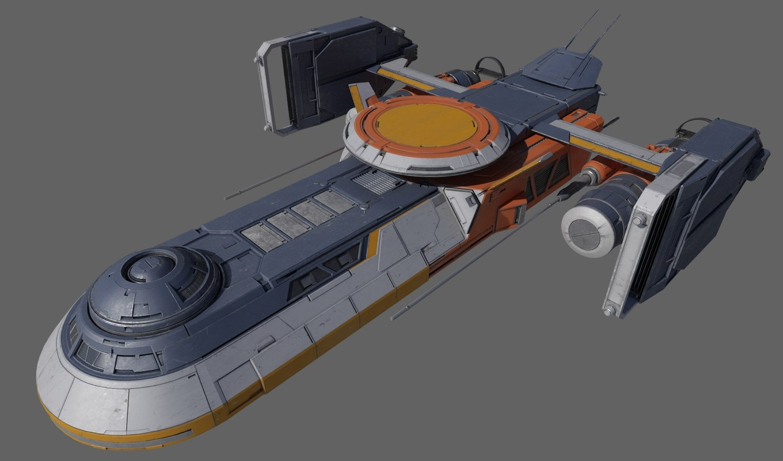 3D cargo spacecraft