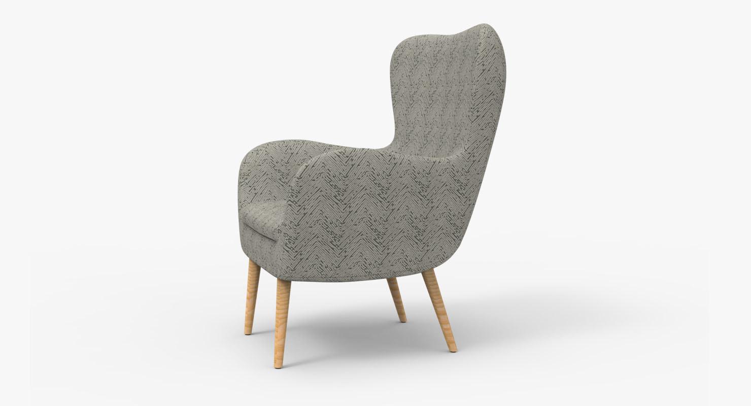 realistic bar chair model
