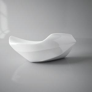 contemporary table reception 3D model